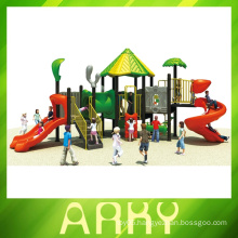 2015 Beautiful green nature kids outdoor playground equipment