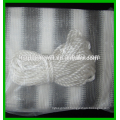Deluxe Grey / White Striped Privacy Screen Net for Deck, Balcony, Fence, Swimming Pool,