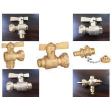 Válvula de plomo del medidor de agua de latón (a 8010)