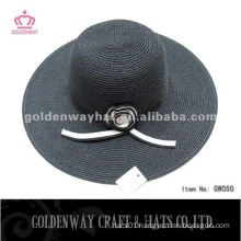 Black Paper Lady Hat With Flower