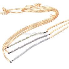 Boho zarte einfache zierliche natürliche Edelstein Bar Perlenkette