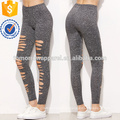 Grey Marled Knit Ripped Leggings OEM / ODM Manufacture Wholesale Moda Mujeres Ropa (TA7026L)