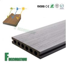 Decking composé en plastique en bois extérieur imperméable anti-UV de prix concurrentiel