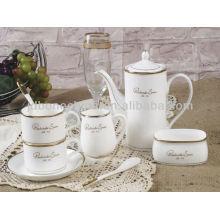 Juegos de café de cerámica de cerámica seguros de microondas al por mayor