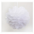 Cheer POM Poms para la venta, White Paper Flower Balls