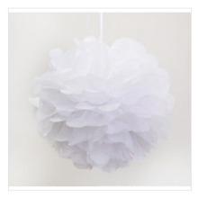 Elogio POM Poms para venda, papel branco flor bolas