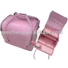 Caja de tatuaje rosa maleta