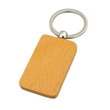 Promotional Custom Shape Blank Wooden Key Ring (Y03919)