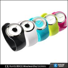 Reloj unisex reloj brazalete, reloj de cuarzo acero inoxidable resistente al agua