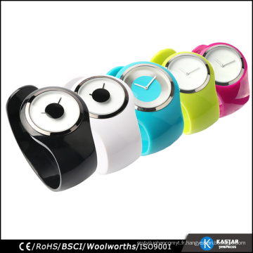 Vignette en bracelets unisex, montre quartz en acier inoxydable résistant à l'eau
