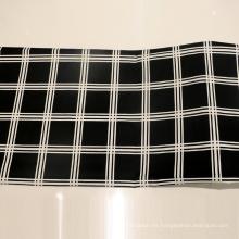 Tejido de tela impresa a cuadros de moda