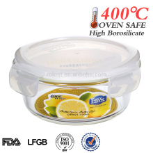 Tigela de vidro hermético microondas venda quente