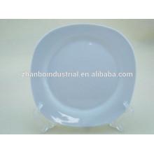 Placas de cena blancas a granel baratas al por mayor de la porcelana para la boda
