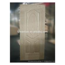 Peau de porte en bois moulé par placage de porte en bois véritable en Chine