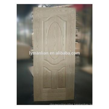 Real wood timber gate veneer moulded wood door skin in China