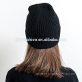 Girls wool cashmere blended cute pure color knitted hat