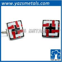 customize cufflinks, custom made black locked squares cufflinks