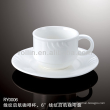 healthy special durable white porcelain cup and saucer