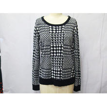 100% Acrylic Jacquard Ladies Pullover Sweater