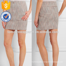 New Fashion Woven Cashmere Mini Pencil Skirt DEM/DOM Manufacture Wholesale Fashion Women Apparel (TA5137S)