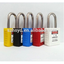 CE certification 304 stainless steel shackle safety padlock
