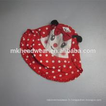 Nouveau bonnet de sport pour enfants en coton avec protection du cou