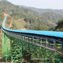 Ske Overland Long-Distance Curved Rubber Belt Conveyor Manufacturing