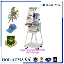 New Small 1 head computerized embroidery machine prices for cap/flat/t-shirt embroidery