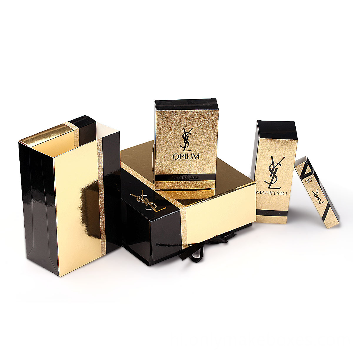Cailang Printing Tuck Top Box with Gold Stamping Logo