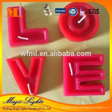 Preço de fábrica boa qualidade alfabeto letras velas