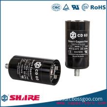 AC motor start aluminum electrolytic CD60 capacitor