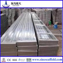 Q235 Qualität Galvanisiertes Stahlgerüst-gehende Planke