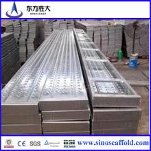 Q235 Plaque de marche à échafaudage en acier galvanisé de haute qualité