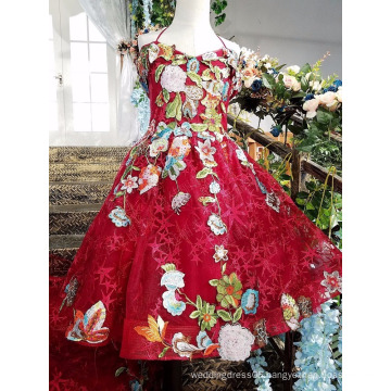 LS00155 2017 baby chinese girl party dress children short front long back real sample evening dress