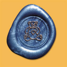 Logo wax seals sticker with self adhesive