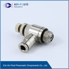 Air-Fluid  Speed Control Valve Pneumatic Push In Fitting