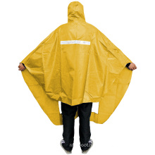 Promotional Orange And Black Disposable Durable mens Womens Rain Ponchos Rain Gears Raincoat