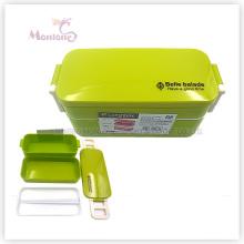 Пластиковые коробки обед bento для детей с замком (850мл)