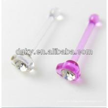 Acrylic nose studs rhinestone hoop nose rings