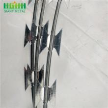 Single Coil Cross Type BTO-22 Galvanized Razor Wire