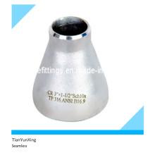 Reductor concéntrico de acero inoxidable sin soldadura