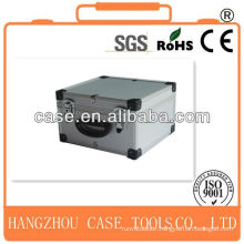 silver aluminum DVD/CD box