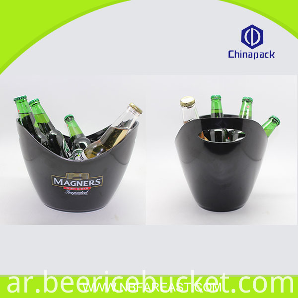 Hot selling colorful popular cheap quality assurance glass ice bucket