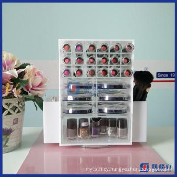 Yageli Factory New Design Spinning Rotating Acrylic Lipstick Holder