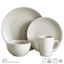 16PCS ROUND MATTE CERAMIC DINNER SET