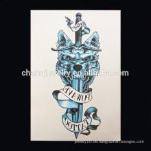 OEM Großhandel Schwert Arm Tattoo personalisieren Arm Tattoo-Aufkleber neueste Design Arm Tattoo W-1010