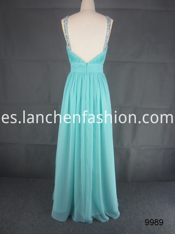 Prom Chiffon Dress Aqua