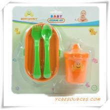 Childern Sichere Tragbare Baby Löffel und Gabel Baby Geschirr Set 2015 Werbegeschenk für Baby Care Boxen von Kleinen Anzug (HA78042)