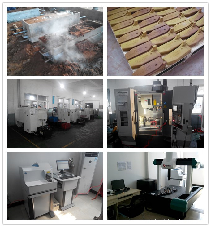 Aluminum sand casting production