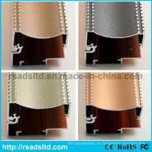 Perfil sección marco de aluminio de la manera para la caja ligera delgada del LED